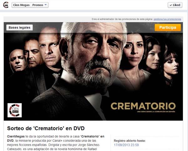 concurso crematorio dvd facebook cien megas