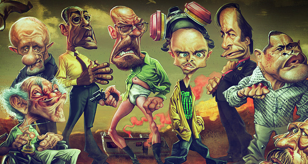 Anthony Geoffroy caricaturas breaking bad